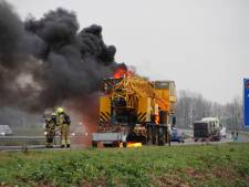 A28 weer open na vrachtwagenbrand