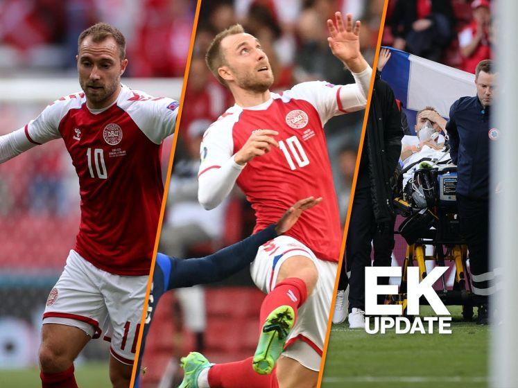 EK update | Christian Eriksen stabiel en wil 'snel terugkeren'