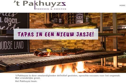 De website van 't Pakhuyzz in Schijndel vermeldt dat de zaak 'wegens omstandigheden' definitief gesloten is.