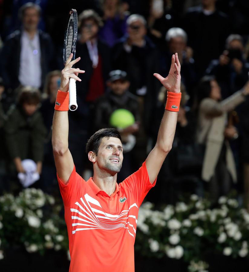 Novak Djokovic moest in de halve finale diep gaan.