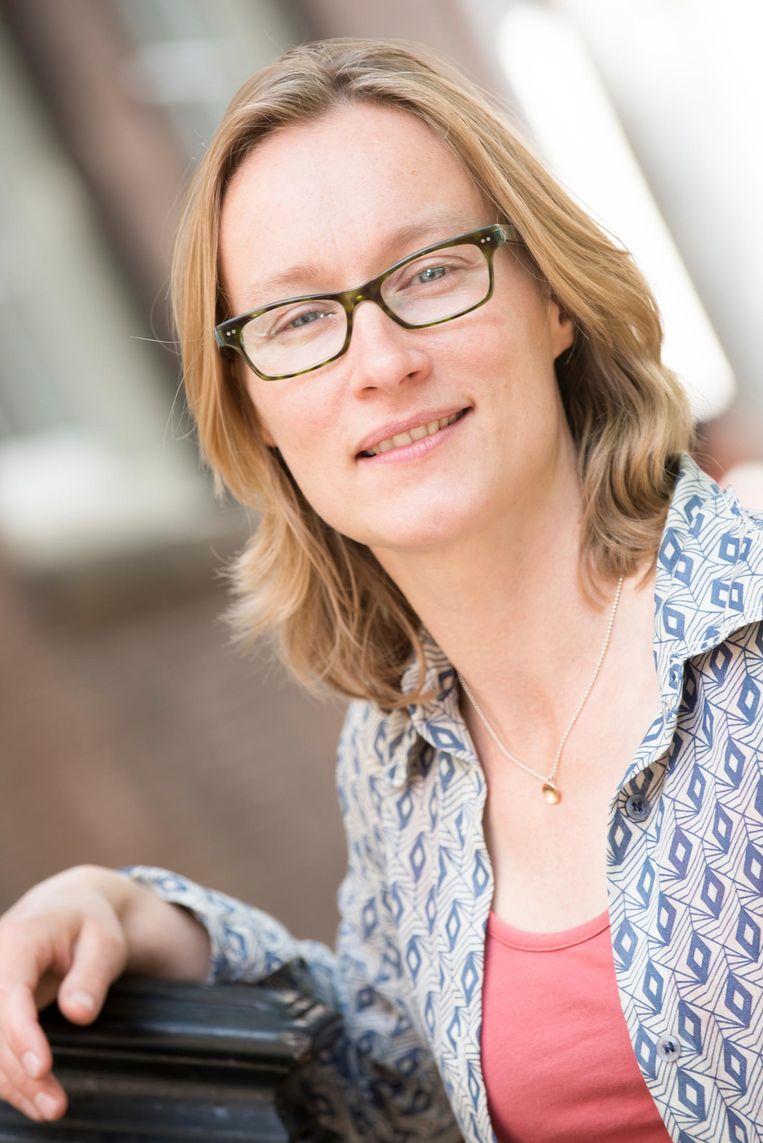 Laura van Hasselt, conservator Amsterdam Museum werkte met Van der Laan aan 'zijn' expositie Beeld Amsterdam Museum