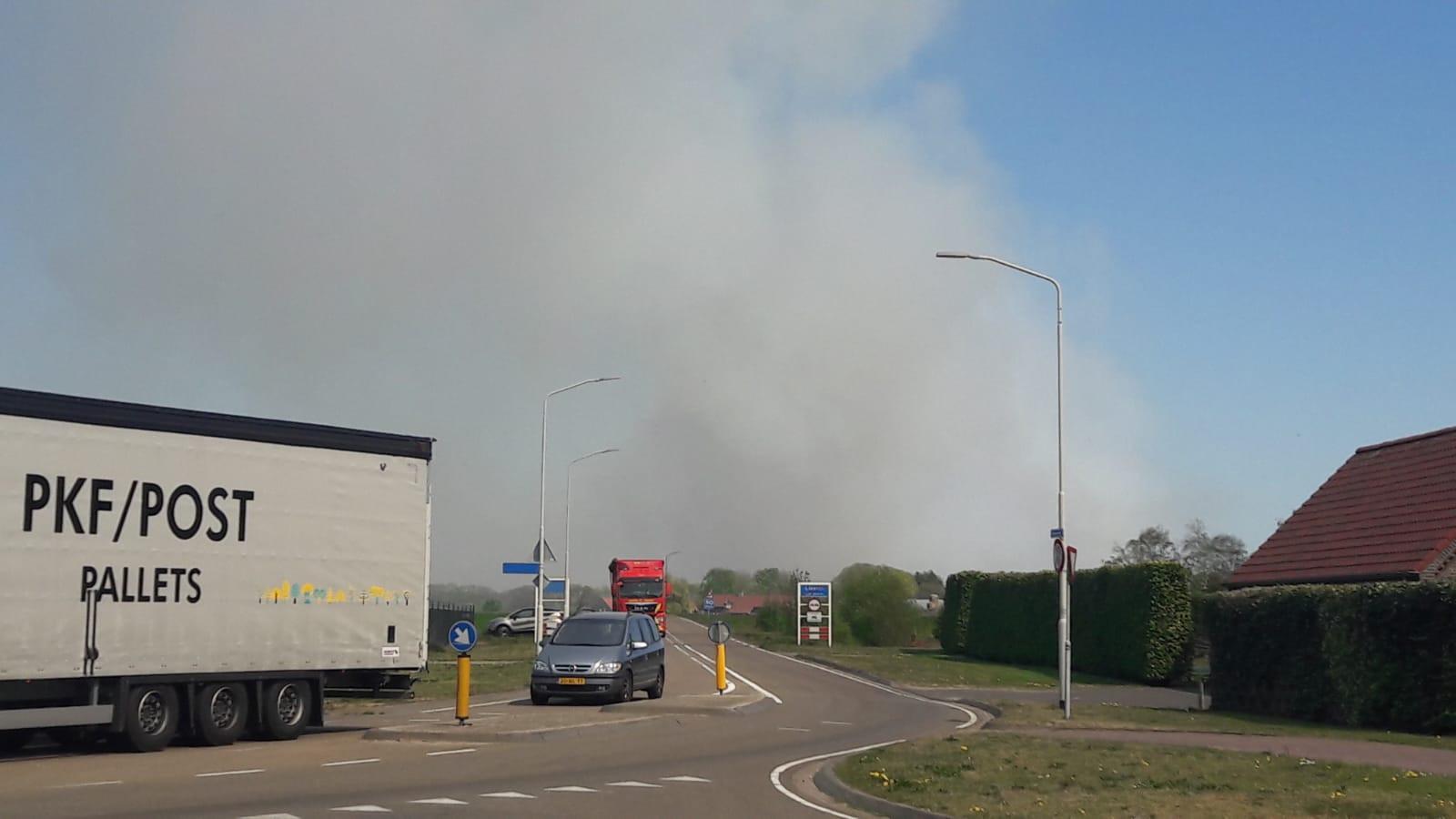 Brand Deurnsche Peel, vanuit Liessel te zien.