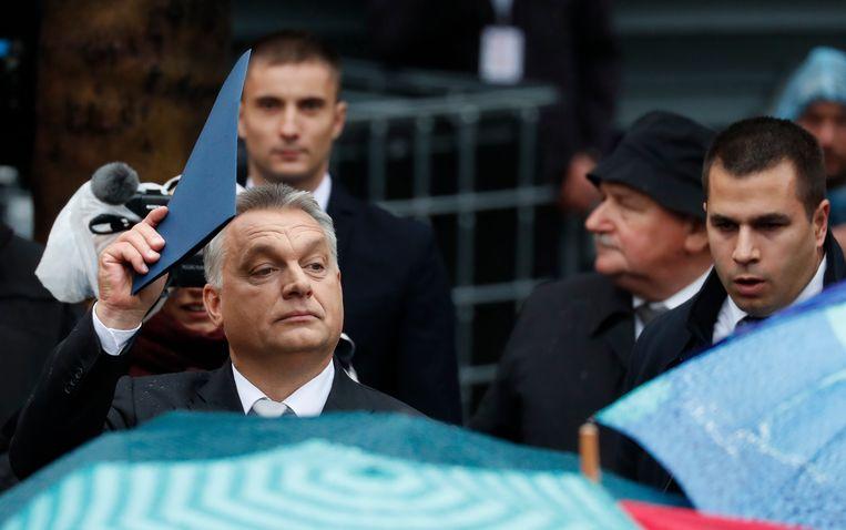 De Hongaarse premier Orbán. De publicatie van het EU-onderzoeksrapport komt voor hem ongelukkig uit. Over twee maanden zijn er verkiezingen. Beeld REUTERS