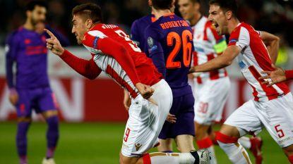 Serieuze stunt in Belgrado: Liverpool met 2-0 onderuit op veld van Rode Ster