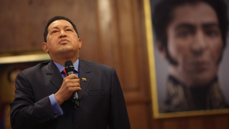 De Venezolaanse president Hugo Chavez. Beeld AP