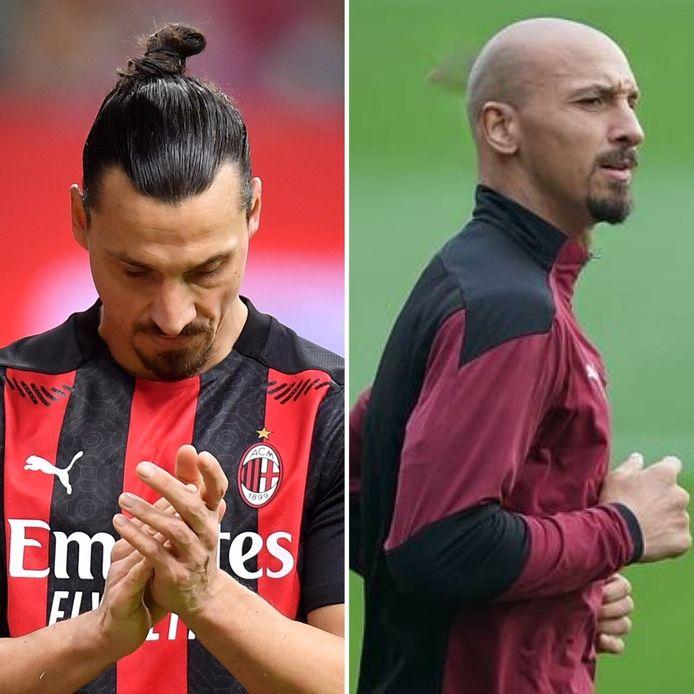 Zlatan Ibrahimovic met én zonder haar op zijn hoofd.