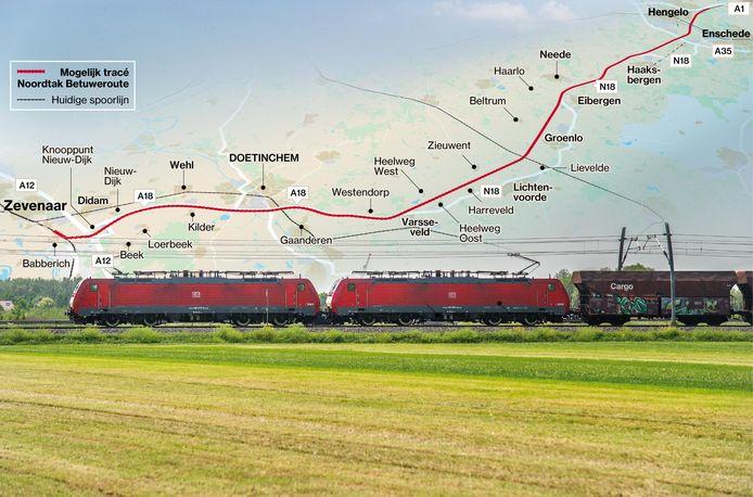 Rijden de goederentreinen straks door de Achterhoek?