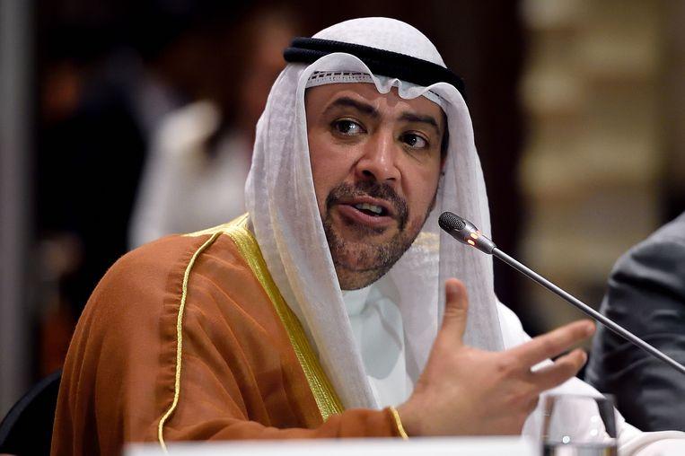 Sjeik Ahmad Al-Fahad Al-Sabah, de machtige voorzitter van ANOC, de koepel van de olympische comités, was een notoire compagnon de route van Poetin.   Beeld Getty Images