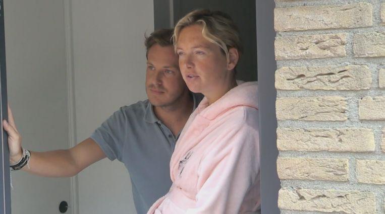 Kijkers 'Chateau Meiland' zien hoe hoogzwangere Maxime flink last heeft van coronabesmetting Beeld SBS