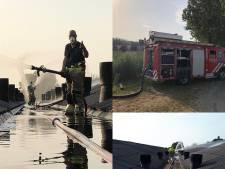 Brandweer koelt twee varkensstallen in Gewande tijdens stroomstoring
