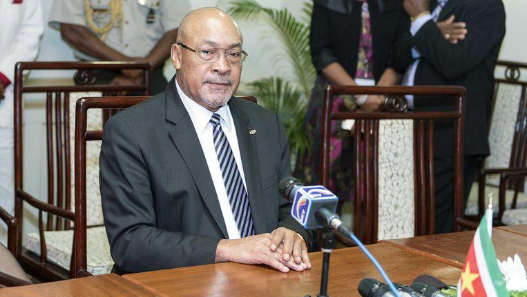 De Surinaamse president Desi Bouterse Beeld ANP