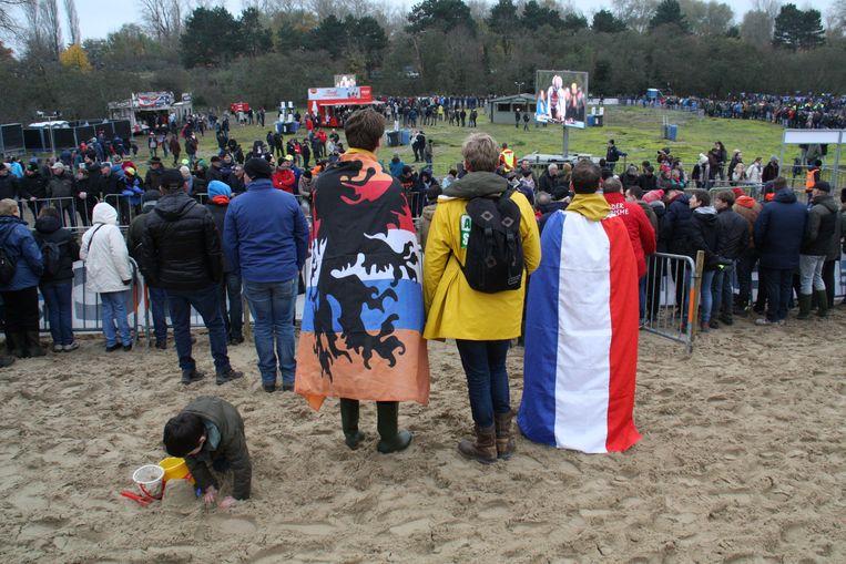Ook Nederlandse supporters genoten dan het veldrijden.