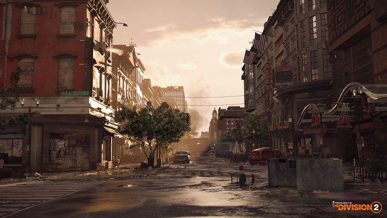 De straten van Washington DC werden één op één nagebouwd in de game, door middel van officiële GIS-data. Beeld Ubisoft