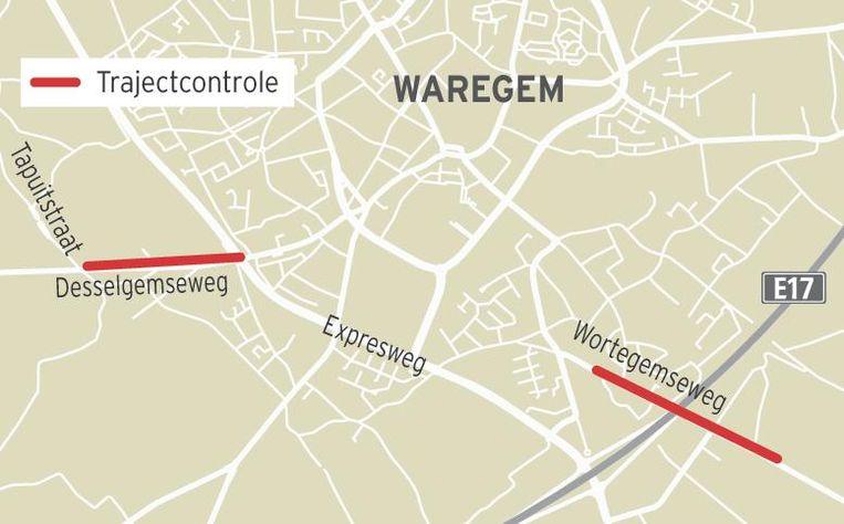 Opgelet: in de Wortegemseweg tussen de Nachtegaallaan en de grens met Wortegem, en in de Desselgemseweg tussen de Tapuitstraat en de Expresweg komen trajectcontroles.