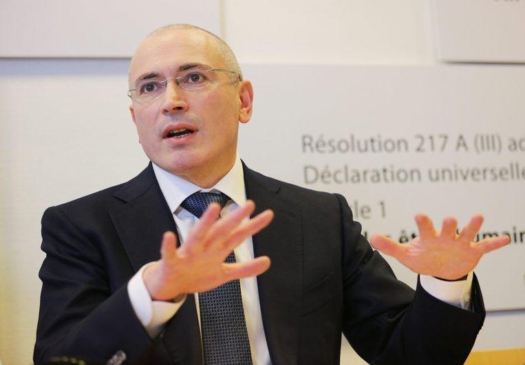 Michail Chodorkovski (53) was ooit de rijkste man van Rusland,  nu dissident in de VS en aanhanger van Hillary Clinton. Hij gaf Steele de opdracht de rol van het Kremlin in de campagne van Trump te onderzoeken. Beeld epa