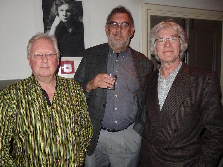 Bestuursleden Jan-Maarten de Winter, Rob Hoogland en Constant Meijers: 'Als je Jip op filmpjes ziet, wordt hij steeds jonger. Omdat wij ouder worden. Forever young!' Beeld Schuim