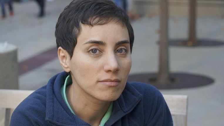De foto van professor Maryam Mirzakhani op de campus van de Universiteit van Stanford die in de media is gebruikt (en door Iraanse media is bewerkt) bij berichtgeving over de prestigieuze prijs die de wiskundige heeft gewonnen. Beeld null