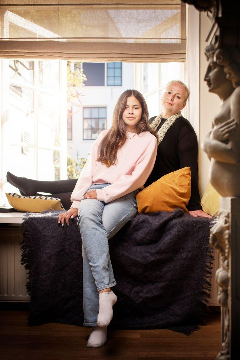Noa en Roos Spier. Beeld Harmen de Jong
