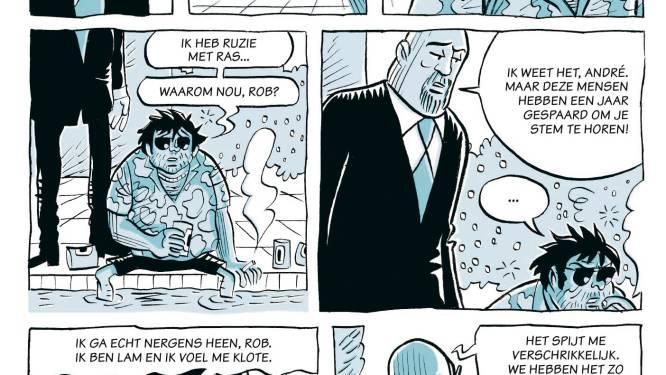 """Stripbiografie van André Hazes senior eindelijk voltooid: """"Bij de minste gelegenheid zoekt hij ruzie, soms slaat hij de boel kort en klein"""""""