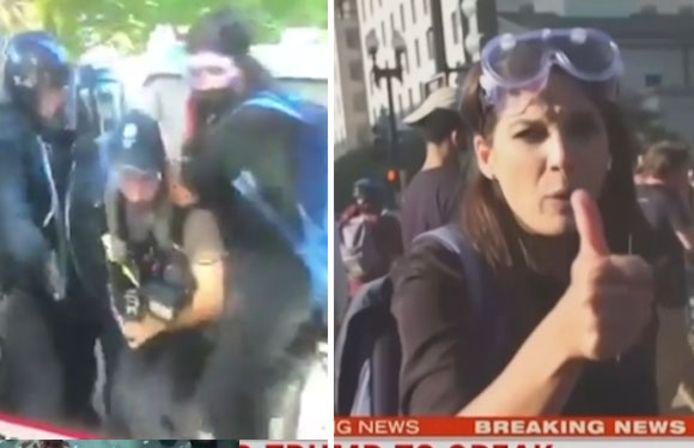 Après une brève perte de contact, les deux reporters, choqués, ont pu reprendre leur duplex.
