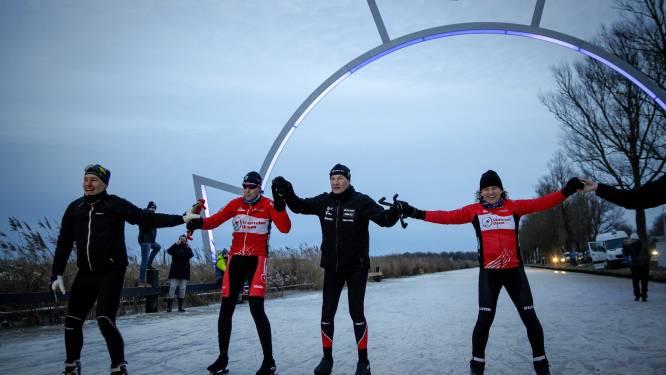 """Winnaar van de laatste editie Elfstedentocht glijdt over de finish: """"Altijd zijn grote wens geweest"""""""