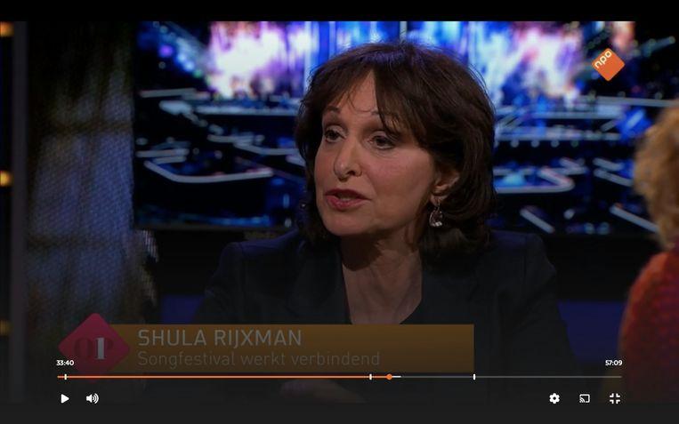 Shula Rijxman bij Op1. Beeld WNL