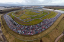 Het Britse Rockingham-circuit in coronatijd.