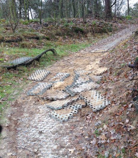 Man met bivakmuts sloopt meters mountainbikepad: 'puur vandalisme'