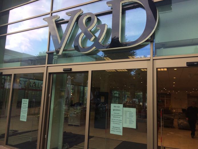 Het V&D-pand in Uden staat weer leeg. Er is een nieuwe, nog onbekende huurder.