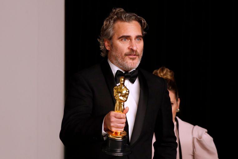 Joaquin Phoenix won de Oscar voor beste acteur. Beeld EPA