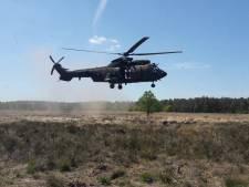 Heli's boven Edese Heide; Defensie begint weer met oefenen na de lockdown
