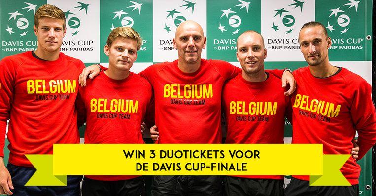 Speel mee en win drie duotickets voor de Davis Cup-finale.