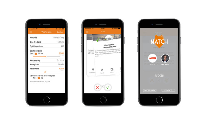 sollicitatie app Swipend solliciteren met OTSO, de app voor je nieuwe baan | Home