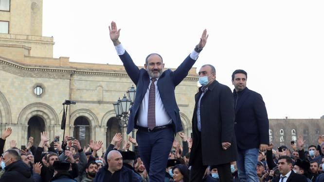 """Aanhangers en tegenstanders van premier Pasjinian protesteren in Armeense hoofdstad, oppositie: """"Laatste kans voor premier om zonder geweld te vertrekken"""""""