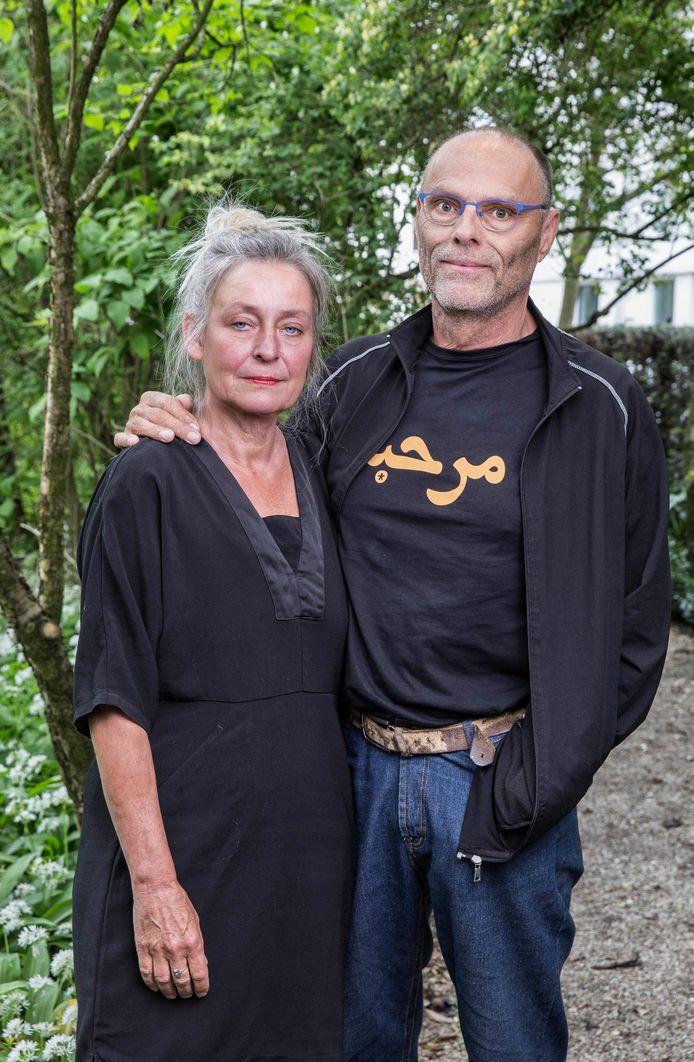 Herman Geertman, broer van de in 2012 vermoorde natuurbeschermer Willem Geertman, met zijn vrouw Gerda.