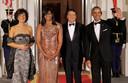 Agnese Landini, Michelle Obama, Matteo Renzi et Barack Obama.
