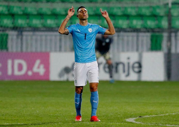 Eran Zahavi scoorde bij Moldavië-Israël.