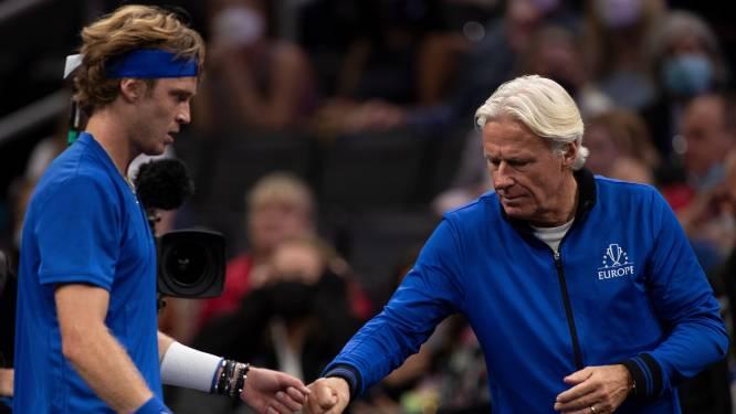 Björn Borg kan zich met Europa geen betere start wensen in Laver Cup: 'Maar we zijn er nog niet'