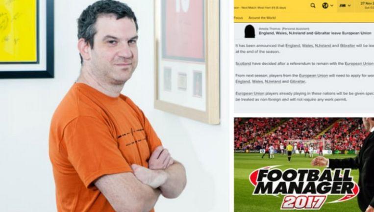 Miles Jacobson, de man achter Football Manager, heeft een serieuze verrassing in petto voor de nieuwste editie. Beeld Sports Interactive