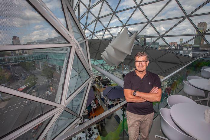 Walter van de Wege zit met Happy Horizon nog in de Blob in Eindhoven. Volgend jaar verhuist het bedrijf naar het voormalige V&D-gebouw in de stad.