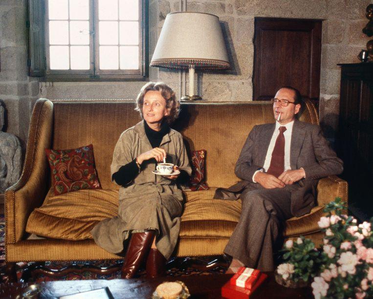 Jacques Chirac en zijn vrouw Bernadette in 1979. Beeld AFP