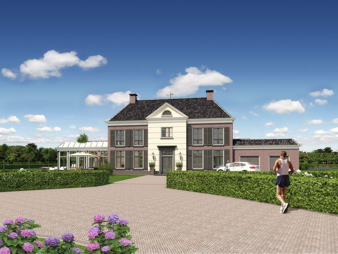 Een van de vier landhuizen op Landgoed 't Lot, waarnaar de vraag uitbleef.