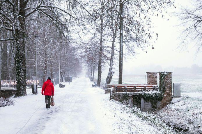 Winterse taferelen in het Speelhof van Sint-Truiden.