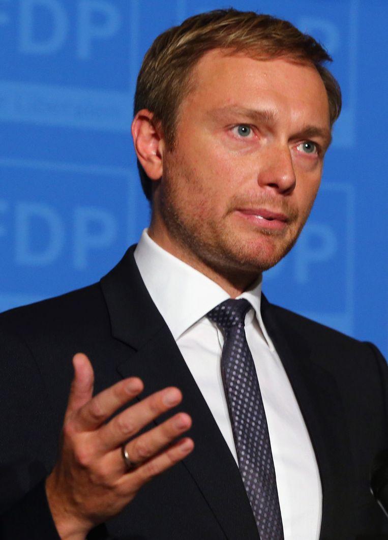 Christian Lindtner van FDP. Beeld GETTY