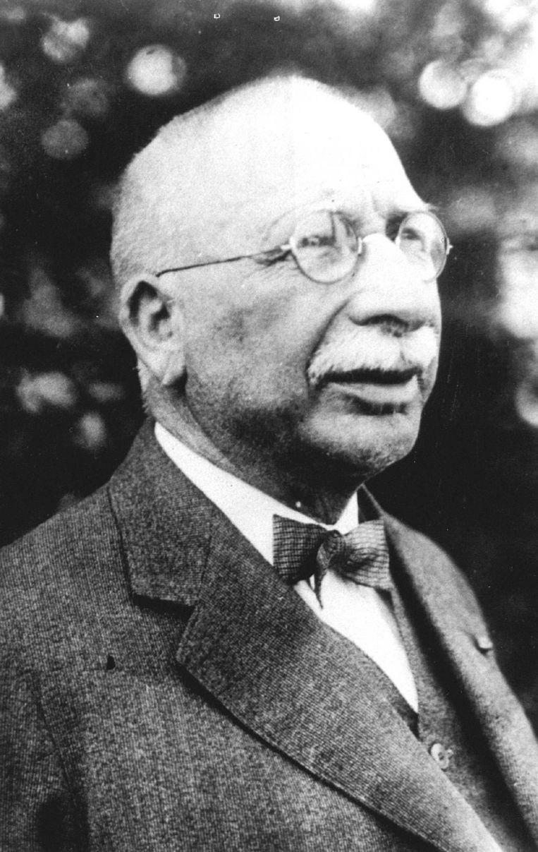 Jac. P. Thijsse (1865-1945), die de teksten leverde voor een groot aantal Verkade-albums, heeft veel bijgedragen aan de popularisering van de natuurstudie in Nederland. Beeld Hollandse Hoogte /  ANP
