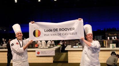 Grammenaar Piet Vande Casteele en Lode De Roover behalen achtste plaats op Bocuse d'Or