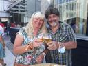Patrick Kerremans en Carina Simons tijdens het feest voor 150 jaar Duvel Moortgat.