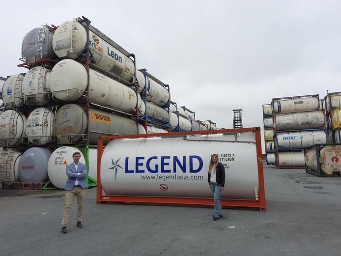 Ruben Hofland en Chantal Graft gaan Legend Logistics in Europa opzetten.