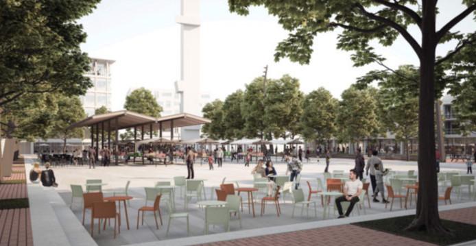 Het ontwerp van Mecanoo voor de Hengelose binnenstad