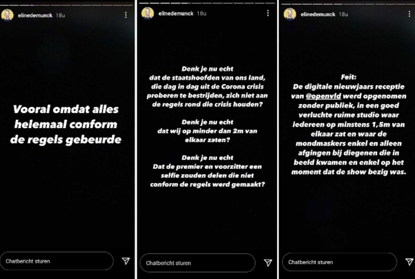 Eline De Munck vit mal les critiques dont elle fait l'objet